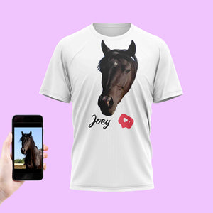 Love Horse Face T-Shirt