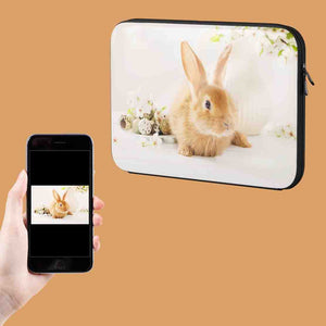 Your Rabbit Photo On A Laptop Case