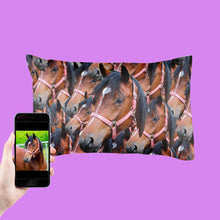 Load image into Gallery viewer, Horse Photo Pillowcase
