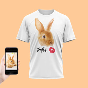 Love Rabbit Face T-Shirt