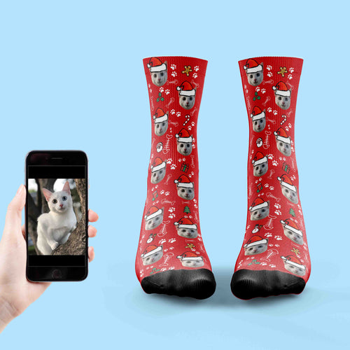 Christmas Cat Socks