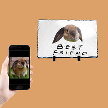Load image into Gallery viewer, Best Friend Rabbit Photo Slate