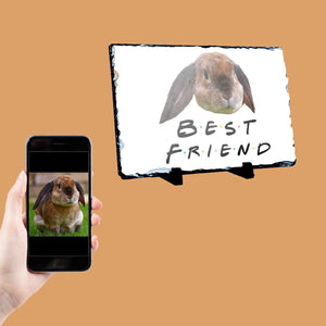 Best Friend Rabbit Photo Slate