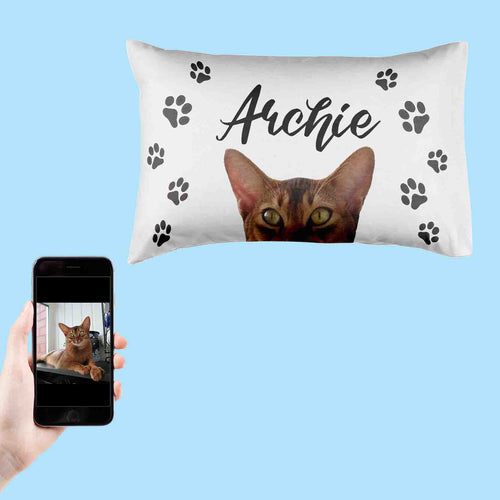 Personalised Cat Pillowcase