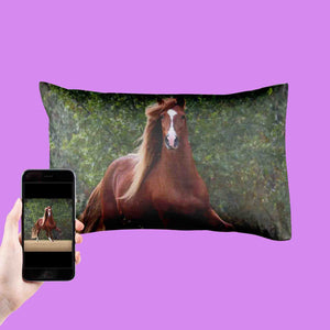Your Horse Photo On A Pillowcase