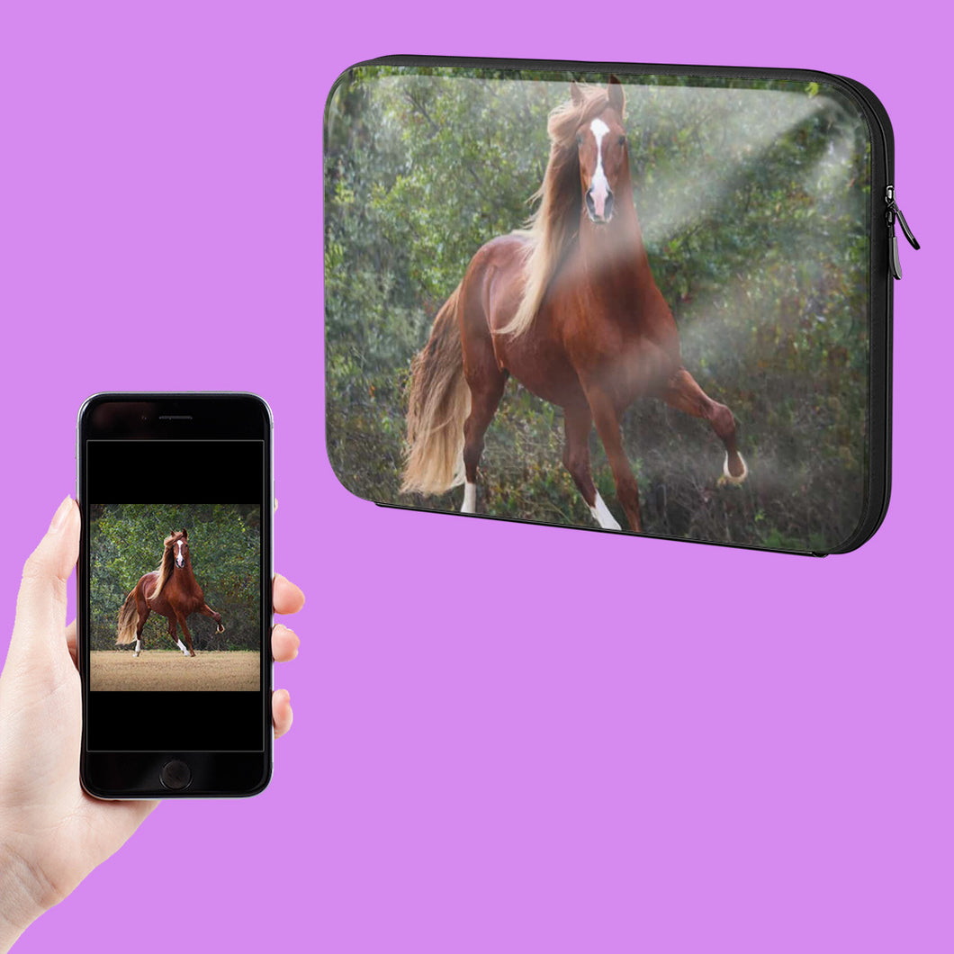 Your Horse Photo On A Laptop Case