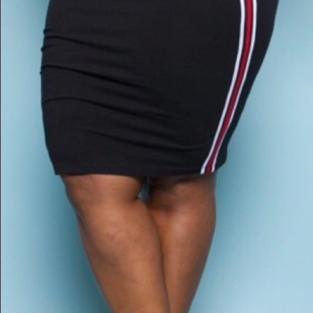 Plus Size Racer Skirt