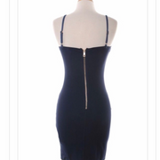 Vesesi Denim Stretch Bodycon Dress