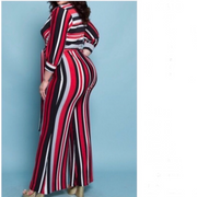 Famously Pinstriped Jumpsuit