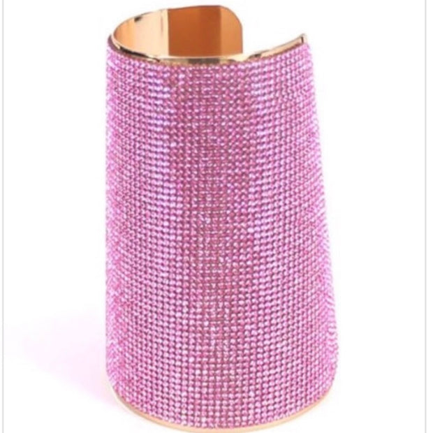 Pink Sapphire Bling Arm Cuff