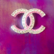 Pink Ice Designer Inspired Brooch