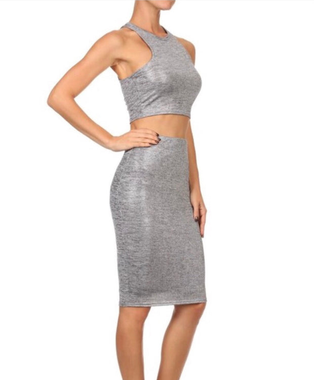 Waynette Metallic 2 Piece Set
