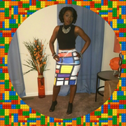 Color Block Bodycon Skirt
