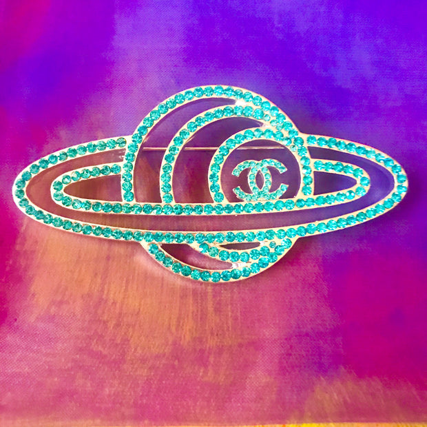 Rings of Saturn Galaxy Brooch