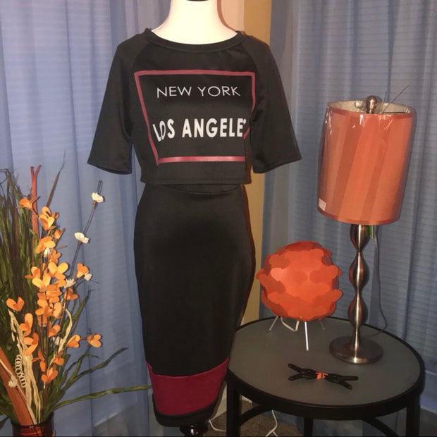 New York Two-Piece Skirt Set