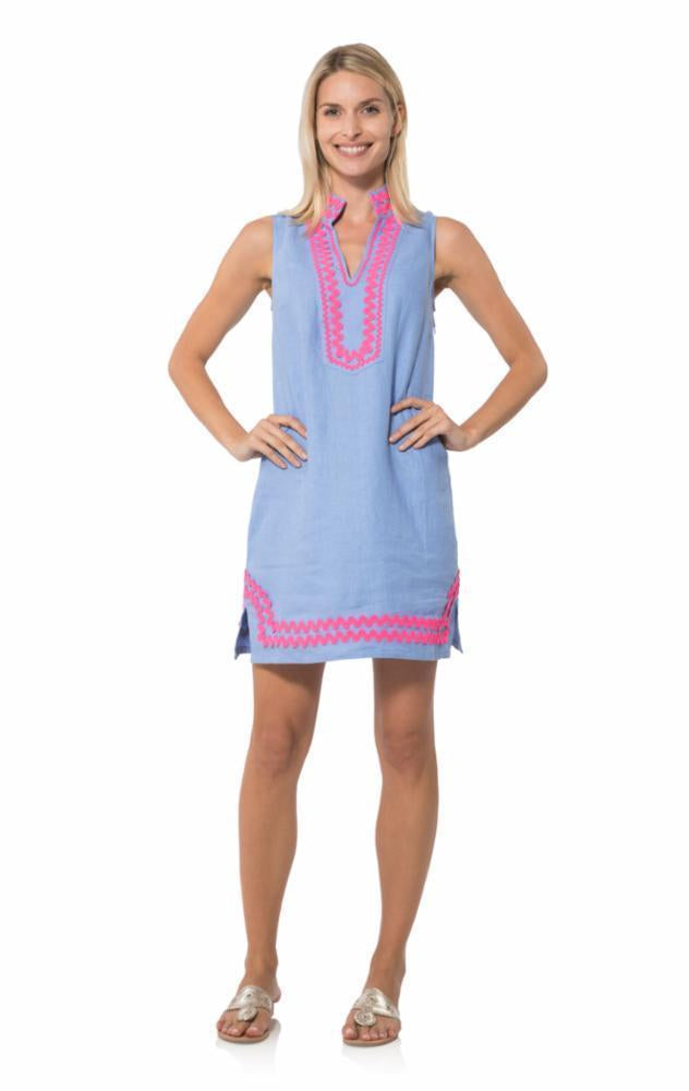 Sleeveless Classic Tunic in Hydrangea with Ric Rac by Sail to Sable R18001