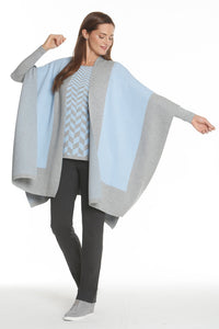 Wrap in Ice Blue/Heather Grey by J'Envie