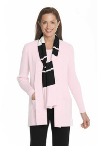 Ribbed Sleeve Cardigan in Pink by J'Envie