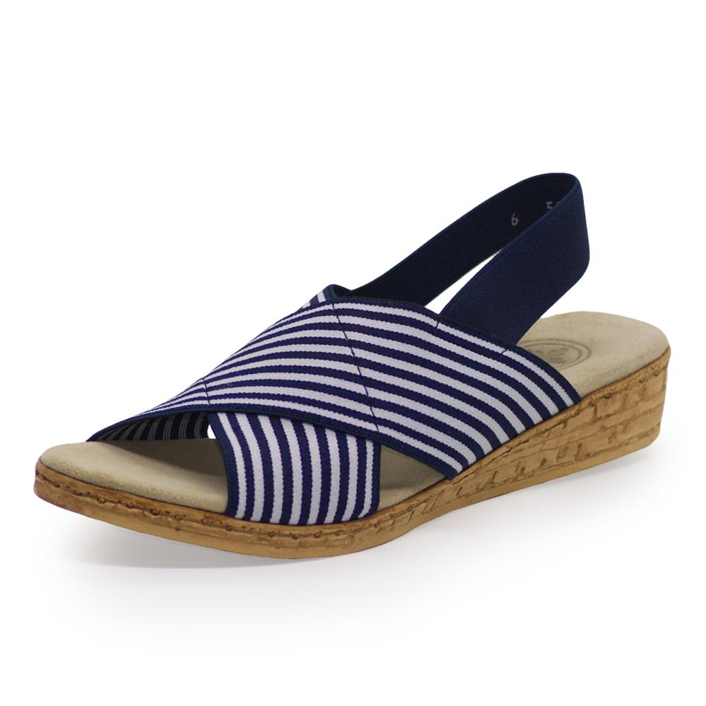 MED Sandal in Navy Blue by Charleston Shoe Company