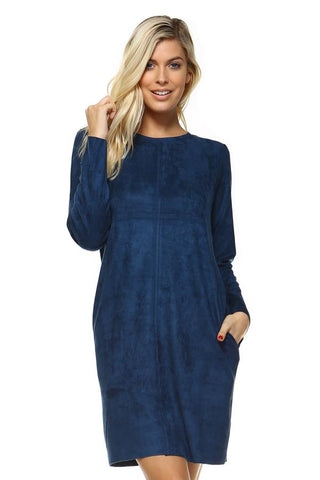 Aurora Longsleeved Tunic Dress in Ulramarine by Joh