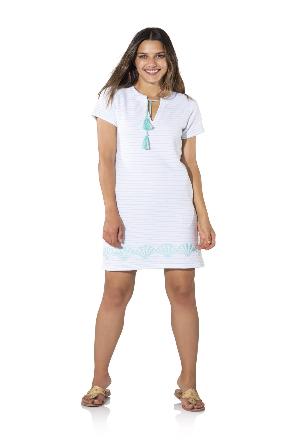 French Terry Short Sleeved Dress by Sail to Sable