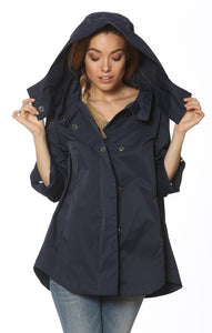 Savina Raincoat in Navy by Ciao Milano