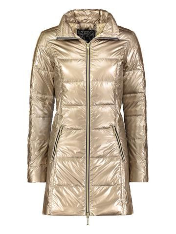 Long Down Coat in Gold by My Anorak