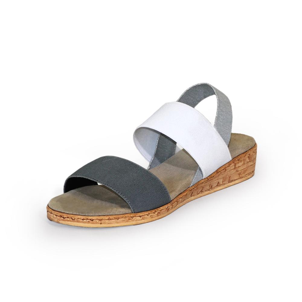 Collins Sandal in Gray/white/silver by Charleston Shoe Company