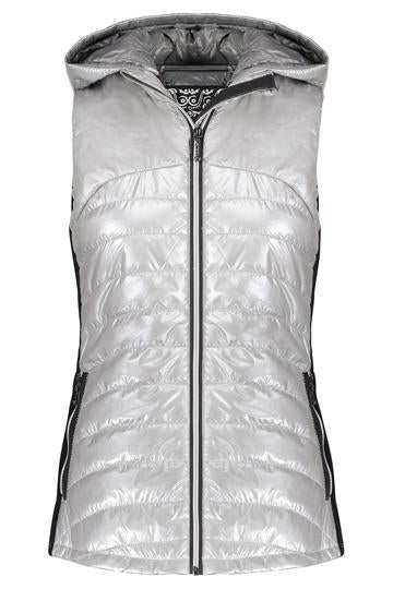 Hooded Down Vest in Silver by My Anorak