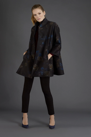 Swing Coat #8303 in Black by Estelle and Finn