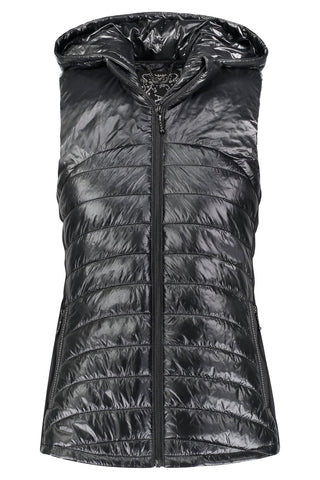 Hooded Down Vest in Black by My Anorak
