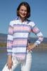 Sun Valley Pink and Blue stripe Blouse by Dizzie Lizzie