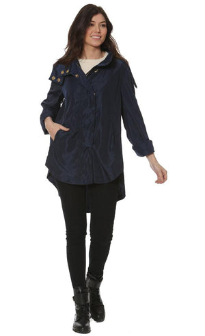 Savina Raincoat in Black by Ciao Milano