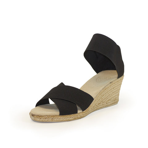 Cannon Wedge in Black by Charleston Shoe Company