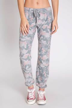Weekend Love Banded Pant in Grey/Pink Camo by Pj Salvage