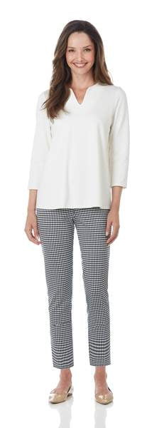 Lucia Pant in Navy Houndstooth Check by Jude Connally