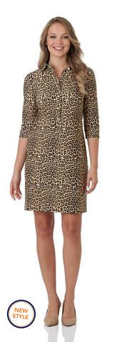 Susanna Dress In Mini Leopard by Jude Connally
