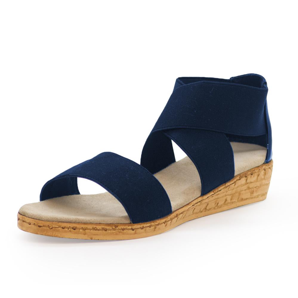 Peri Sandal in Navy by Charleston Shoe Company