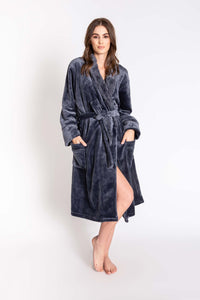 Luxe Bathrobe in Charcoal by PJ Salvage