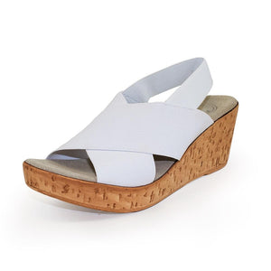 MED Sandal in White by Charleston Shoe Company