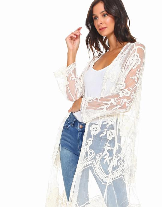Luna Duster in Cream by JOH