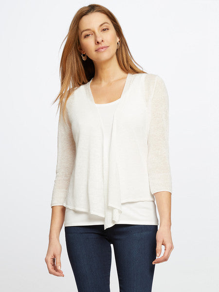 Sweater in White by Nic and Zoe