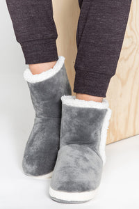 Plush Bootie in Grey By PJ Salvage