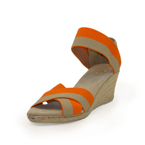 Cannon Wedge in Orange Mix by Charleston Shoe Company