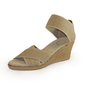 Cannon wedge in Linen by Charleston Shoe Company