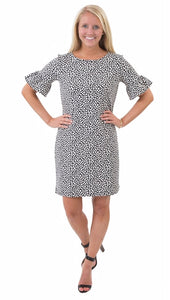 Haley Dress in Black Almond Pebbles by Sailor Sailor