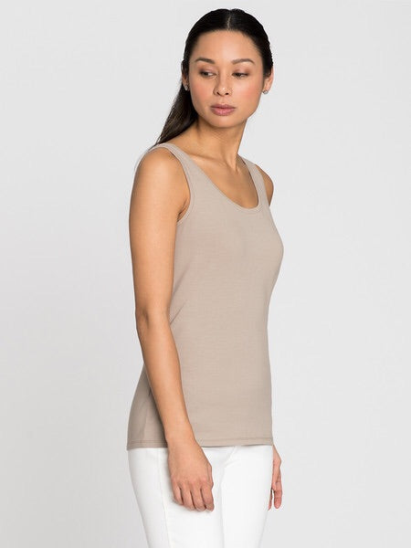 PERFECT TANK TOP IN LATTE BY NIC+ZOE
