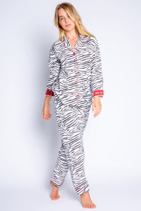 Zebra Flannel Pajama Pants by PJ Salvage
