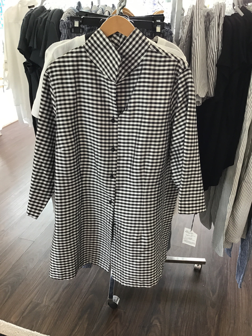 Rona Jacket in Back and White Check by Connie Roberson