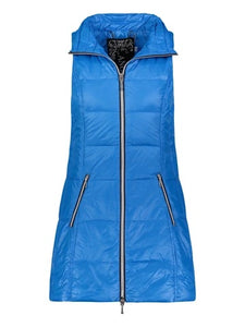 Long down puffer vest in turquoise by my anorak